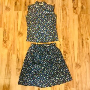 Vintage Saks Fifth Avenue Matching Skort & Top
